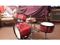 Impact Drum Co. 5 Piece red Starter Drum Kit rrp £250