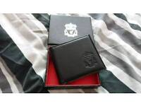 Leather Liverpool embossed wallet