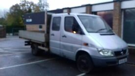 Mercedes Sprinter 413 dropside crew cab 7 seater twin wheel
