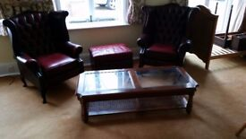 Real wood, real leather furnitures- House clearance