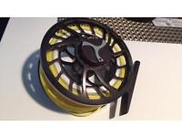 Orvis mirage large arbour reel size 2 black nickel with orvis wf4 hydros trout line all new