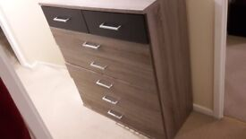 Brown Coloured 5 + 2 Chest of Drawer (Used)