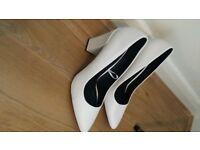 Ladies White Shoes Size 8.