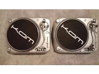KAM DDX 2000 DJ Decks Turntables. Direct Drive. Fully Working In Very Good Condition.