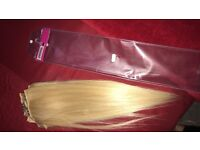 Hair extensions 5 piece bleach blonde clip ins