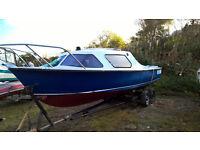 Cabin Diesel Inboard Fishing Boat