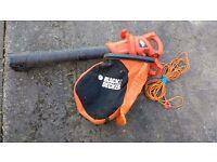 Black and Decker garden vacuum