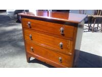 Beautiful vintage three drawer chest