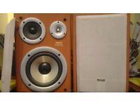Sanyo 3 way bass reflex speaker system