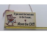 Move the cat sign
