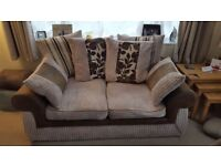 Sofa and swivel cuddle chair for sale