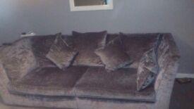 4 seater sofa crushed velvet