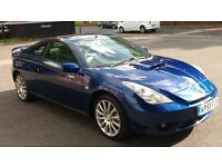 2005 Toyota Celica 1.8 VVTi Blue, 86,000 miles, Immaculate condition
