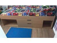 various bedroom furniture, beds, drawers, table, bedside unit