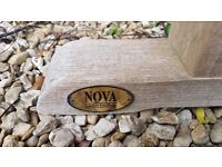 Large solid pine garden table made by Nova