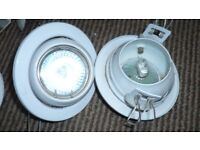 Qty 11 Ceiling Lights - for Spares or Bulbs