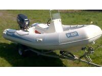 Rib boat V-450 Adventure Selva 50hp outboard 2006 and trailer