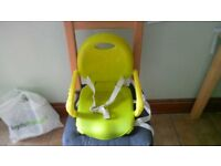 Chicco pocket snack booster seat.