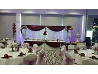 Asian Wedding Stages, Floral Stages, Chair Covers For Hire