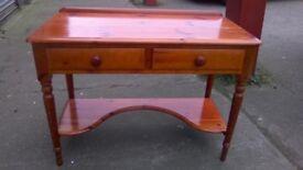 Stunning LOVELACE pine two tier dressing table/desk