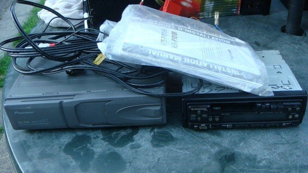 PIONEER CDX-670 6 CD CHANGER PIONEER KEH-P3730R CASSETTE PLAYER   in ...