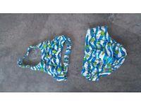 Toddler trunks/bikini set by Zoggs 1 to 2 yrs)