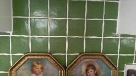 Beautiful Green Country Kitchen wall tiles