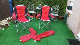2x folding camping chairs as new never used