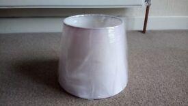 Pale pink NEW lamp shade 20cm diameter