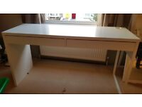White IKEA Desk Micke
