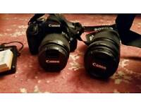 Canon eos 600D with Efs 18-55mm and 70-300mm zoom lens