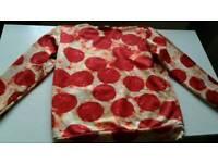 Mens pepperoni pizza sweatshirt size s/m