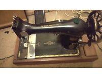 Singer Sewing Machine - Model 27K - Circa 1902 - Electric Motor - R Serial No