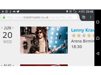 Lenny Kravitz Ticket for Wdenesday 20th June 2018 URGENT Sale