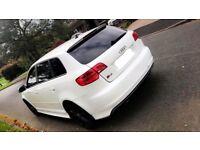 2010 Audi S3 DSG Sportback White, Red Leathers, Bose, Sat Nav, 5 door..... cupra ST golf BMW r32 gti