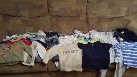 Massive bundle of boy clothes 12-18 months