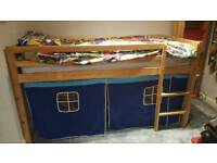 Childrens single cabin bed (hardly used)