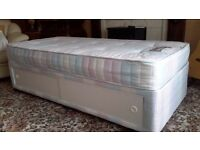 SOLD Single Divan bed with mattress and storage underneath in excellent condition seldom used