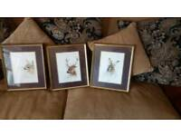 Pictures Deer, stag, hare. £15 for set of 3