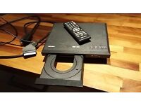Bush DVD player. with scart lead and remote