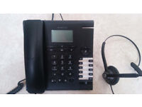 Alcatel Temporis 780 DeskPhone and a wired Jabra Headset
