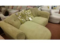 Amazingly cheap green cord effect 3 seater lounge sofa !!!