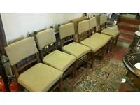 Vintage lovely oak chairs