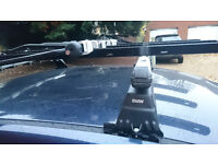 Original BMW Roof bars for E39/46/44. Includes three bike carriers as shown! £99