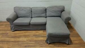 Free delivery: Gray Ikea Ektorp Sectional Sofa- NEW