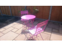 Brighton Bistro Outdoor Table and Chair Set, Orchid, RRP 89 £