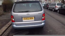Hyuandi.03plate, automatic 5 door with 8 month mot