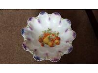 Decorative china fruit bowl