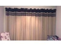 New - Beautiful Linen mix fully lined 10 eyelet curtains