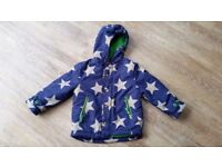 Boys' Mini Boden Coat - Blue with Grey Stars - Age 3-4 Years